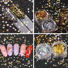 Box Lucky Star Nail Sequins Glitter Nails Decal Nail Gel Stickers Nail Art Tool