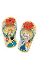 Disney Store Frozen Fever Flip Flop Shoes Sandal Anna Elsa 2/3