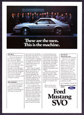 """1984 Ford Mustang SVO Coupe photo """"The Men & The Machine"""" vintage promo print ad"""