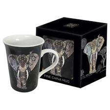 Splendido Design Elefante Cina Fine Tazza Regalo Nuovo in Scatola BG0077