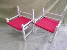 Pareja de SILLONES para niños con cojines. Pink Armchair. 46 cms. Madera