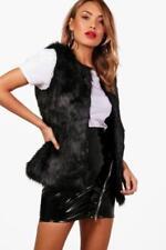 Manteaux et vestes en fourrure sans manches pour femme