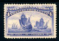USAstamps Unused FVF US 1893 Columbian Expo Columbus Fleet Scott 233 MHR