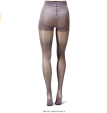 Berkshire Women's Tight Shimmer Opaque Control Top Hosiery Steel/Gray Petite