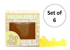 Popaball l'éclatement des bulles lot de 6 passion fruit flavour boba bubble tea boisson