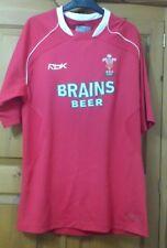 Reebok Wales Rugby Union Home 2007-08 WRU CYMRU Play Dry Shirt  size( UK) S