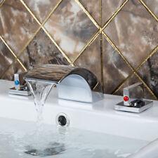 RE  Chrome Waterfall Widespread Roman Bath Tub Filler Tap Bath Faucet Mixer Tap