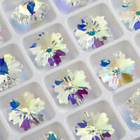 10pcs 14mm Crystal Glass beads Snowflake bead For DIY Jewelry making Earring