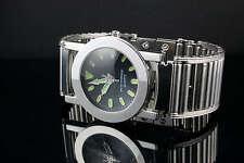 Reloj Pulsera Hi Tek Diseños Modernos De Acero Inoxidable para hombre con correa hecho a mano