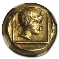 Lesbos, Mytilene EL Hecte Ares/Amazon (412-378 BC) XF NGC - SKU#153852