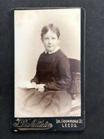 Victorian Carte De Visite CDV: Child: Nettleton: Leeds: Boy In Dress Reading