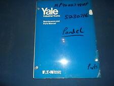 YALE MP WP LOW LIFT PALLET JACK 4000 6000 LB MAINTENANCE & PARTS MANUAL BOOK