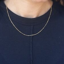 Gold Necklace Dainty Satellite Chain Women Chic Layered New 14k Gold Filled
