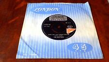 "THE DRIFTERS SAVE THE LAST DANCE LONDON  UK 7"" 45 1960 1T/1T w TAX POSTAGE STAMP"