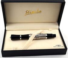 Stipula Academia Sterling Silver Golf Fountain Pen - 18K Gold F Nib