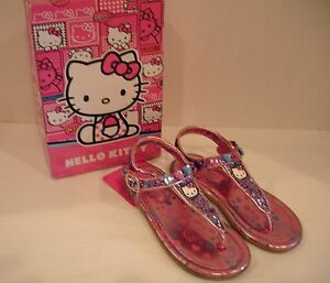Sanrio Hello Kitty Sandals  LIL BLYTHE T Strap Sequined Mult Color Girls