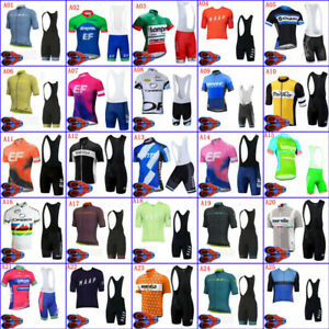 Mens Cycling Jersey & Bib Short Set Cycling Short Sleeve Jersey Cycling Shorts