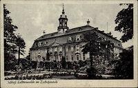 Lichtenwalde Sachsen Nachgebühr Stempel 1953 Schloss Palast Verlag Brück & Sohn