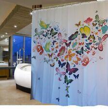 Heart Shaped Butterflies Fabric Shower Curtain 2m Drop New Free Shipping