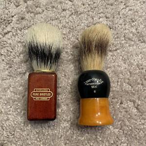 Antique Vintage Barber Shaving Brushes Bakelite Butterscotch Ever Ready Germany