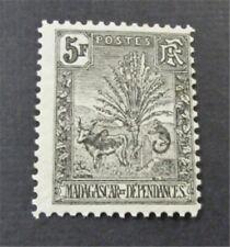 nystamps French Madagascar Stamp # 77 Mint OG H $83  U18y3178