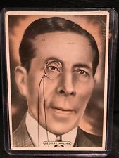 George Arliss 1935 Ardath Cigarette Card Movie Poster Vintage Hollywood Film
