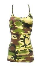Womens Microfiber Lycra Vest Top Ladies Sleeveless Strappy Dance Party Vest Top