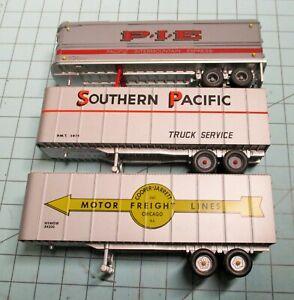 HO scale semi trailers, Walthers, CMW, 32 foot, SP, Cooper Jarrett, PIE