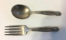 Baby Spoon and Fork by Holmes & Edwards Danish Princess pattern