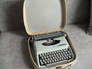 """Reise-Schreibmaschine """"consul"""" Modell 231.2 mechanisch mit Koffer funktioniert"""