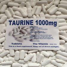 Taurine 1000mg 365 Tablets      FREE POSTAGE