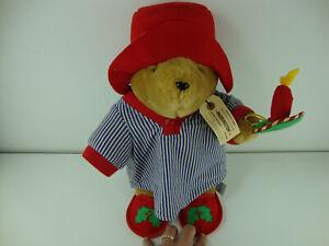 """Vintage Christmas Plush 16"""" Holiday Paddington Bear Kids Gifts Candle Pajamas"""