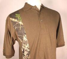 Mossy Oak Dark Green Men's Ranger Short Sleeve Polo Shirt Size Medium
