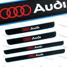 For Audi Blue Border Rubber Car Door Scuff Sill Cover Panel Step Protector 4pcs (Fits: Audi)