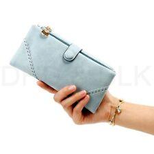 Portafogli e borsellini da donna in pelle blu con organizer