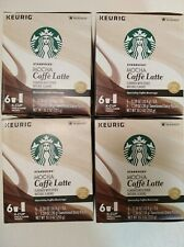 Starbucks Mocha Caffe Latte K Cups 4 Boxes 24 Pods & 24 Dairy Packets (12/2019)