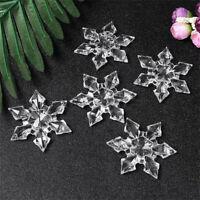 12 Stück Weihnachten Schneeflocke Klarer Kristall Acryl Strass Gefroren Anhänge
