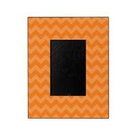 CafePress Orange Chevron Pattern Decorative 8x10 Picture Frame 1883079526