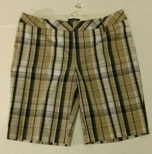 Le Chateau Black & Tan Plaid Womens Shorts Nwt Size 7/8 $55