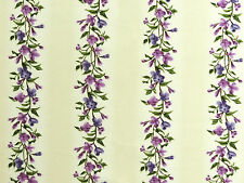 Stoffe Flieder Blätter Blüten Ranken Bordüre lila creme purpur grün 30x1,12 BW