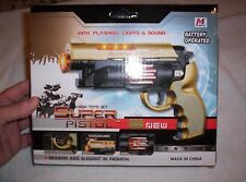 Toy plastic battery operated Revolving gun Flashing Lights Age 3-10 #3302 11oz