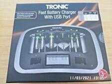 More details for tronic fast charge battery charger with usb port brand new in box