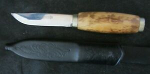 BRUSLETTO GEILO NORWAY HUNTING KNIFE WITH SCABBARD ETCHED  ga