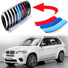 Fits BMW X5 E70 Year 2008-2013 Kidney Grille M Sport 3 Colour Cover Stripe Clips