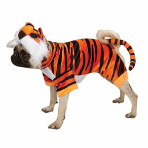Bengal Buddy Dog Costume Tiger Plush Hook & Loop Closures Whiskers Casual Canine