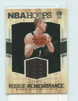 MASON PLUMLEE 2015-16 Panini NBA Hoops Rookie Remembrance Jersey Relic #RR-MP