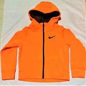 NIKE Swoosh DRI-FIT Kids Sports Hoodie NEON ORANGE Sizes: 4,5,6,7 (3-7 YRS) NEW