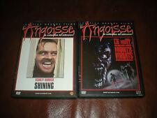 LOT 2 DVD LES PLUS GRANDS FILMS D'ANGOISSE : SHINIG + LA NUIT DES MORTS VIVANTS