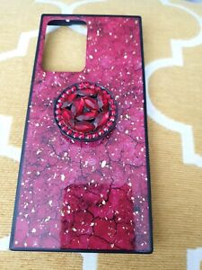 Diamond Marble Stand Ring Holder Phone Case Cover Samsung Galaxy Note 20 Ultra