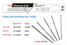 5 Dental Refine 35-40um 4mm Orthodontic IPR Diamond Strips Med Grit Single Side